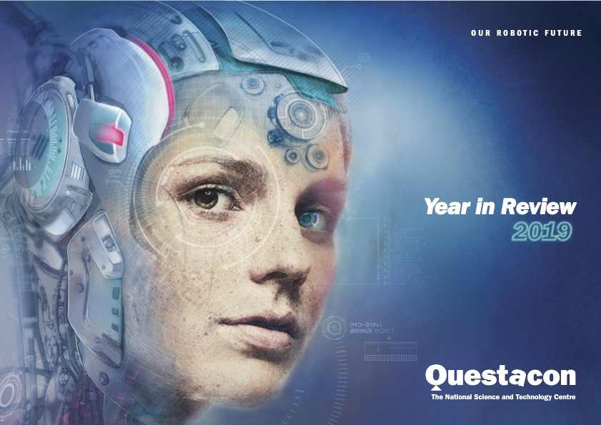 The cover of the Questacon Annual Review for 2019