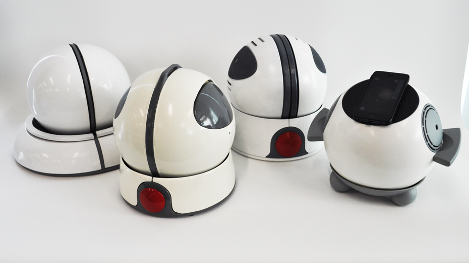 Four different Orby prototypes, in order of oldest to newest from left to right.
