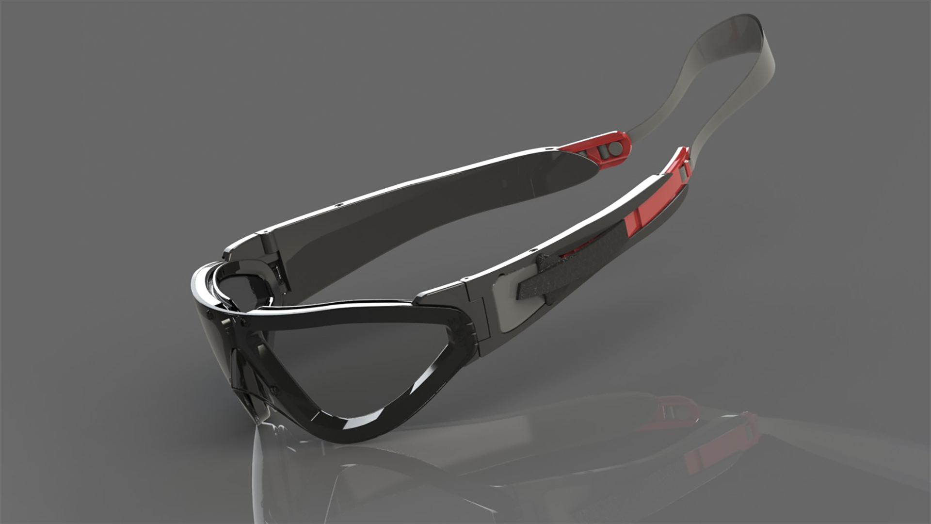 3d render of sealz, the rapid transition glasses