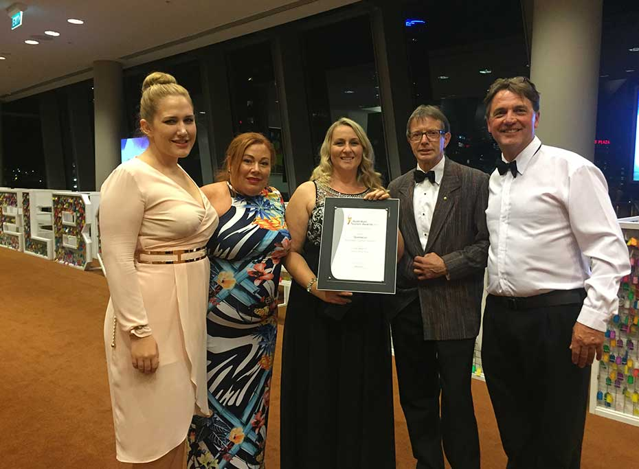 Questacon staff with the Silver National Tourism Award