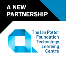 Logo: A new partnership. The Ian Potter Foundation Technology Learning Centre