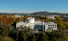 Link to Visiting Canberra. An overhead image of a large building