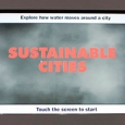Screen shot with the words Sustainable Cities in red.