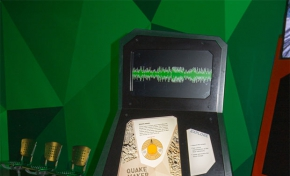 Close up image of the seismometer in Quakemaker