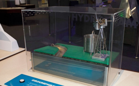 Groundwater exhibit from H20 Soak Up the Science exhibition.