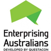 Logo: Enterprising Australians developed by Questacon