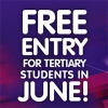 Free entry for tertiary students in June!