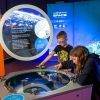 Visitors engaging with an exhibit at the Australia in Space exhibition at Questacon