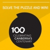 Logo: Canberra 100 - Solve the puzzle and win!