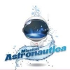 Astronaut cartoon logo with text Mission Astronautica